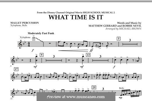 What Time Is It (from High School Musical 2): Mallet Percussion part by Matthew Gerrard, Robbie Nevil