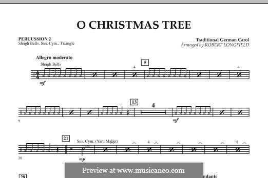 O Christmas Tree, for Orchestra: Percussion 2 part by folklore