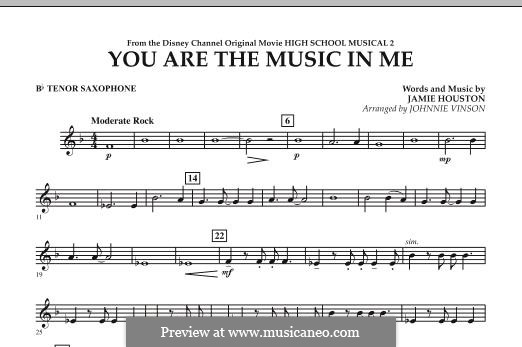 You are the Music in Me (High School Musical 2): Bb Tenor Saxophone part by Jamie Houston