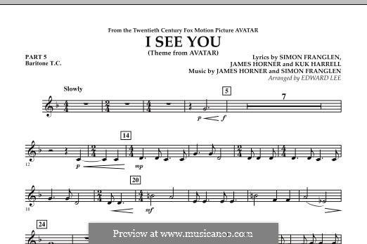 I See You (Theme from Avatar): Pt.5 - Baritone T.C. part by James Horner, Simon Franglen