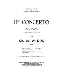 Klavierkonzert Nr.2, Op.77: Zweite Stimme by Charles-Marie Widor