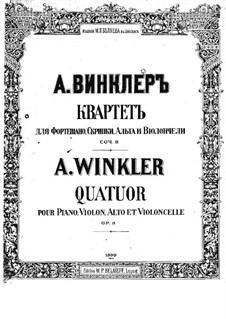 Klavierquartett in g-Moll, Op.8: Vollpartitur by Alexander Winkler