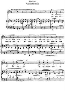 Occhietti amati: Für Stimme und Klavier by Andrea Falconieri