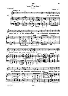 Am Fenster, D.878 Op.105 No.3: Für tiefe Stimme und Klavier by Franz Schubert