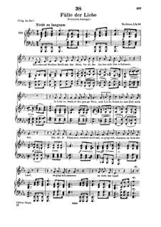 Fülle der Liebe, D.854: Für tiefe Stimme und Klavier by Franz Schubert