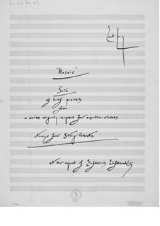 Mosaik. Suite für Streichorchester: Vollpartitur by Ernst Levy