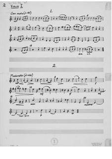 Mosaik. Suite für Streichorchester: Stimmen by Ernst Levy