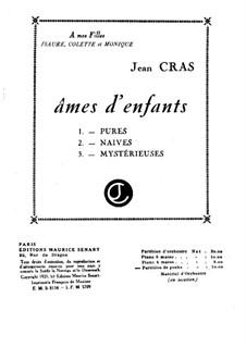 Ames d'enfants: Vollpartitur by Jean Cras