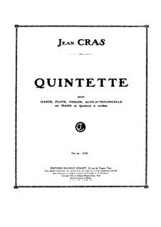 Quintett für Flöte, Streicher und Harfe (oder Klavier): Vollpartitur by Jean Cras