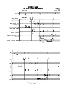 Sporadicus (for large percussion ensemble): Sporadicus (for large percussion ensemble) by Jordan Grigg