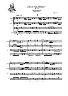 Concerto for Strings in A Minor, RV 161: Version für Streichquartett by Antonio Vivaldi