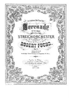 Serenade für Streichorchester Nr.2, Op.14: Erste und zweite Stimme by Robert Fuchs
