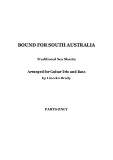 Bound for South Australia: For guitar ensemble by folklore
