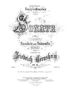 Sonate für Cello und Klavier in d-Moll, Op.12: Solostimme by Friedrich Gernsheim