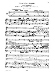 Liebes Mandel, wo ist's Bandel, K.441: High Key, voice and piano by Wolfgang Amadeus Mozart
