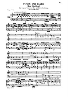 Liebes Mandel, wo ist's Bandel, K.441: Medium Key, voice and piano by Wolfgang Amadeus Mozart