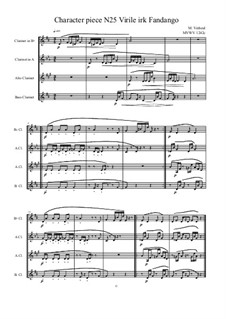 Musica sanitatem: No.25 for Bass clarinet quartet, MVWV 1242c by Maurice Verheul