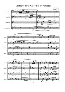 Musica sanitatem: No.25 for Saxophone quartet, MVWV 1242b by Maurice Verheul