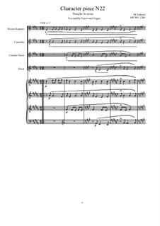 Musica sanitatem: No.22 for Middle Voices and Organ, MVWV 1240 by Maurice Verheul