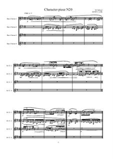 Musica sanitatem: No.20 for Bass clarinet quartet, MVWV 1238b by Maurice Verheul
