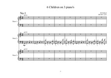 12 hands on 3 pianos for 6 Children, MVWV 1253: 12 hands on 3 pianos for 6 Children by Maurice Verheul