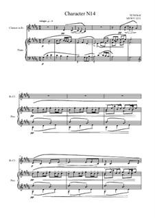 Musica sanitatem: No.14 for Bb Clarinet and Piano, MVWV 1231 by Maurice Verheul