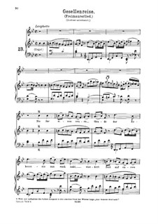Lied zur Gesellenreise, K.468: Für hohe Stimme und Klavier by Wolfgang Amadeus Mozart
