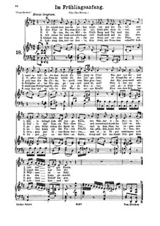 Im Frühlingsanfang, K.597: Für tiefe Stimme und Klavier by Wolfgang Amadeus Mozart