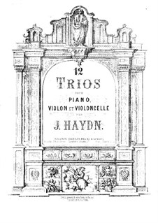 Klaviertrios (Sammlung), Hob.XV: Nr.1-12 – Violinstimme by Joseph Haydn