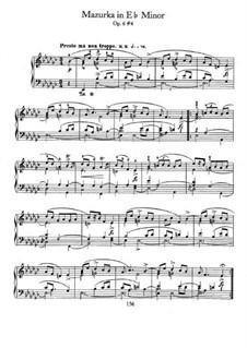Mazurkas, Op.6: No.4 in E Flat Minor by Frédéric Chopin