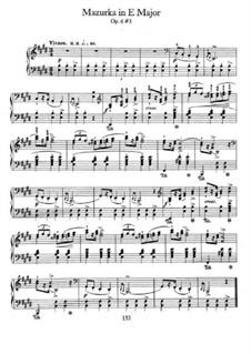 Mazurkas, Op.6: No.3 in E Major by Frédéric Chopin
