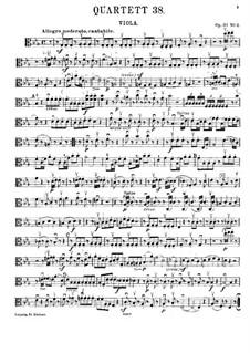Streichquartett Nr.30 in Es-Dur 'Der Scherz', Hob.III/38 Op.33 No.2: Bratschenstimme by Joseph Haydn