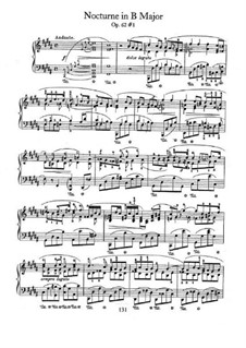 Nocturnen, Op.62: No.1 in B Major by Frédéric Chopin