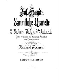 Streichquartett Nr.30 in Es-Dur 'Der Scherz', Hob.III/38 Op.33 No.2: Violinstimme I by Joseph Haydn