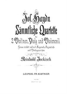 Streichquartett Nr.66 in G-Dur, Hob.III/81 Op.77 No.1: Violinstimme I by Joseph Haydn