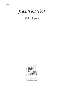 New series of beginner piano pieces: 12. Rat Tat Tat – Easy Piano by Mike Lyons