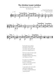 Nu tändas tusen juleljus: Für Gitarre by Emmy Köhler