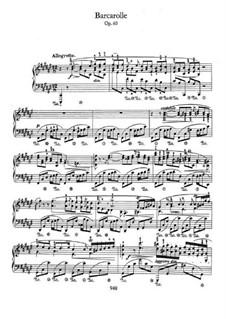 Barkarole in Fis-Dur, Op.60: Für Klavier by Frédéric Chopin