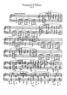 Fantasie in f-Moll, Op.49: Für Klavier by Frédéric Chopin