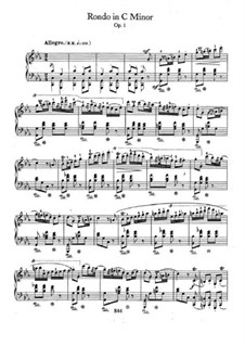 Rondo in c-Moll, Op.1: Für Klavier by Frédéric Chopin
