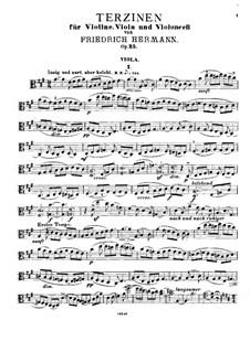 Terzinen für Violine, Bratsche und Cello, Op.25: Violastimme by Friedrich Hermann