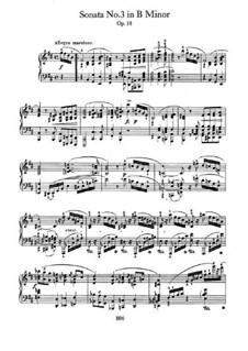 Sonate für Klavier Nr.3 in h-Moll, Op.58: Für einen Interpreten by Frédéric Chopin