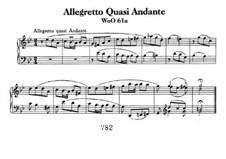 Allegretto Quasi Andante, WoO 61a: Für Klavier by Ludwig van Beethoven
