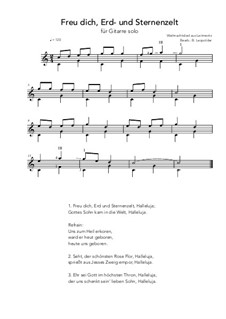 Freu' dich Erd' und Sternenzelt: For guitar solo (C Major) by folklore