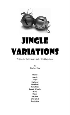 Jingle Variations: Vollpartitur by Stephen Troy