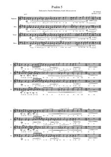 Psalm 5 for Choir (SATB), MVWV 1257: Psalm 5 for Choir (SATB) by Maurice Verheul
