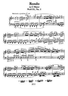 Zwei Rondos für Klavier, Op.51: Rondo No.1 by Ludwig van Beethoven