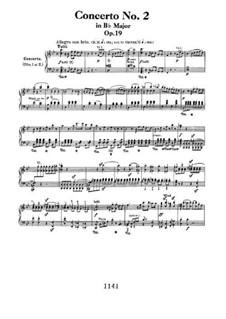 Konzert für Klavier und Orchester Nr.2, Op.19: Version für zwei Klaviere, vierhändig by Ludwig van Beethoven