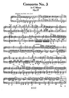 Konzert für Klavier und Orchester Nr.3, Op.37: Version für zwei Klaviere, vierhändig by Ludwig van Beethoven