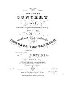Grosses Konzert für Klavier und Orchester Nr.2 in a-Moll: Grosses Konzert für Klavier und Orchester Nr.2 in a-Moll by Johann Nepomuk Hummel
